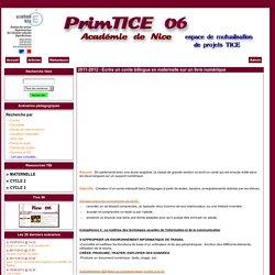 Primtice 06 - 2011-2012 - Ecrire un conte bilingue en maternelle sur un livre numérique