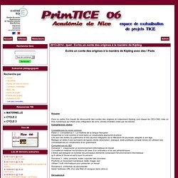 Primtice 06 - 2013-2014 - Ipad : Ecrire un conte des origines à la manière de Kipling