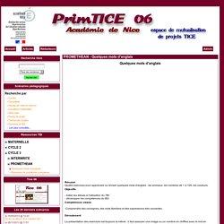 Primtice 06 - PROMETHEAN - Quelques mots d'anglais