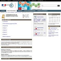 Primtice27 - Expérimentation de Scratch Jr en CP-CE1