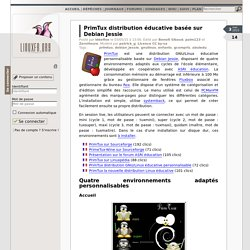 PrimTux distribution éducative basée sur Debian Jessie