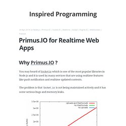 Primus.IO for Realtime Web Apps