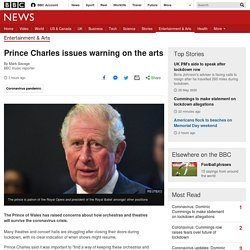 Prince Charles issues warning on the arts