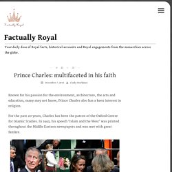 Prince Charles: multifaceted in his faith