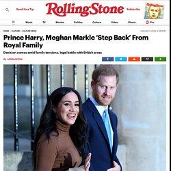 Prince Harry, Meghan Markle Announce Split From Royal Family