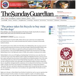 'The prince takes his bicycle to buy meat for his dogs'