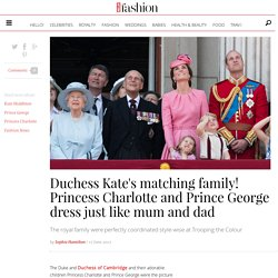 Princess Charlotte and Prince George match outfits with parents the Duke and Duchess of Cambridge