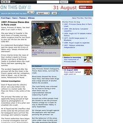 1997: Princess Diana dies in Paris crash