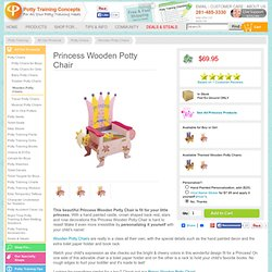 Princess Wooden Potty Chair - Potty Training Concepts