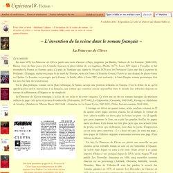 S. Lojkine, La Princesse de Clèves, l'invention de la scène de roman - Utpictura18 Fiction