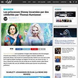 Les princesses Disney incarnées par des célébrités par Thomas Kurniawan