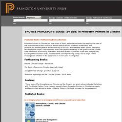 Browse Princeton Catalog in Princeton-Primers-in-Climate