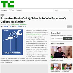 Princeton Beats Out 13 Schools to Win Facebook's College Hackathon