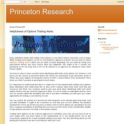 Princeton Research: Helpfulness of Options Trading Alerts