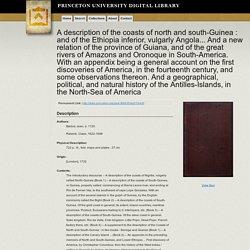John Barbot 1681, Description of the coast…