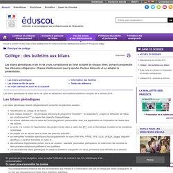 Principal de collège - Collège : des bulletins aux bilans