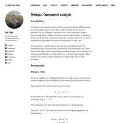 Lei Mao's Log Book – Principal Component Analysis