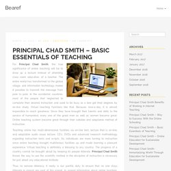 Principal Chad Smith - Basic Essentials of Teaching