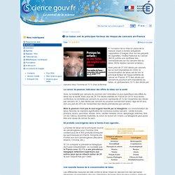 Le tabac est le principal facteur de risque de cancers en France