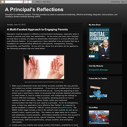 A Multi-Faceted Approach to Engaging Parents