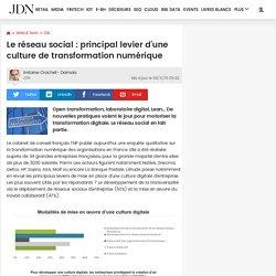 Le réseau social : principal levier d'une culture de transformation numérique
