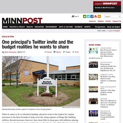 One principal's Twitter invite and the budget realities he wants to share