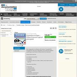 Formation en ligne - Fiches Concours spécial principalat - Formations en ligne
