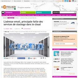 L'adresse email, principale faille des services de stockage dans le cloud