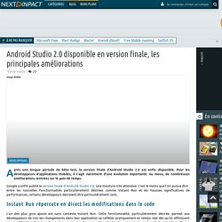 Android Studio 2.0 disponible en version finale, les principales améliorations