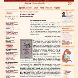 Ciencia-ficción: principales sub-géneros, 6 - ROBOTS Y ANDROIDES - Ivan Fernández Balbuena - Opinion.Ensayo