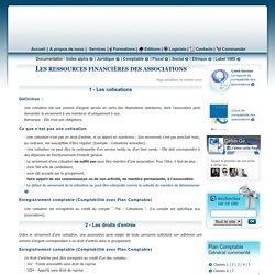 Les principales ressources financières des associations