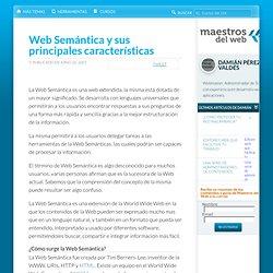 Web Semántica y sus principales características