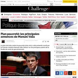 Plan pauvreté: les principales annonces de Manuel Valls