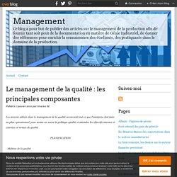 Le management de la qualité : les principales composantes - Management