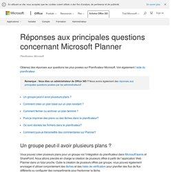 Réponses aux principales questions concernant Microsoft Planner