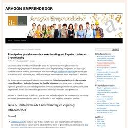 Principales plataformas de crowdfunding en España. Universo Crowdfundig