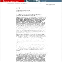 Anuario 2010-2011. Principales traductores automáticos: productos, empresas desarrolladoras, proveedores de servicios, etc.