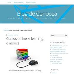 Cursos e-learning o moocs: principales diferencias blog Conocea