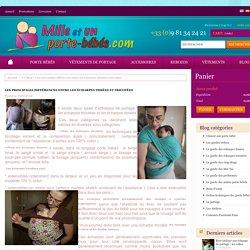 Mille et Un Porte Bébés - Les principales différences entre les écharpes tissées et tricotées