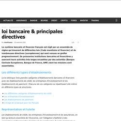 loi bancaire & principales directives