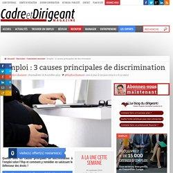 Emploi : 3 causes principales de discrimination