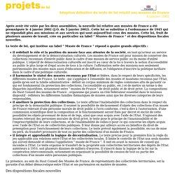 Les quatre principales dispositions du projet de loi relatif aux Musées de France