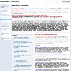 Principales problemas - documentos dimEDUtic
