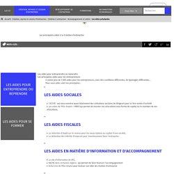 Les principales aides à la Création d'entreprise - Portail CCI.fr