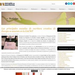 Las principales escuelas de escritura creativa de Europa se asocian en la EACWP
