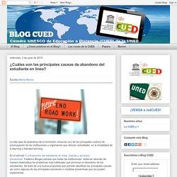 ¿Cuáles son las principales causas de abandono del estudiante en línea?