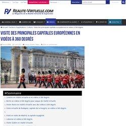 Visite des principales capitales européennes en vidéos à 360 degrés