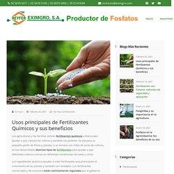 Usos principales de Fertilizantes Químicos y sus beneficios
