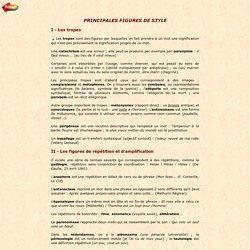 PRINCIPALES FIGURES DE STYLE