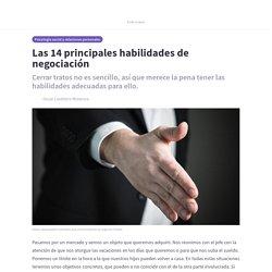 Las 14 principales habilidades de negociación